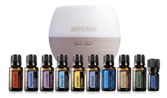 DoTERRA Essential Oils and Petal Diffuser