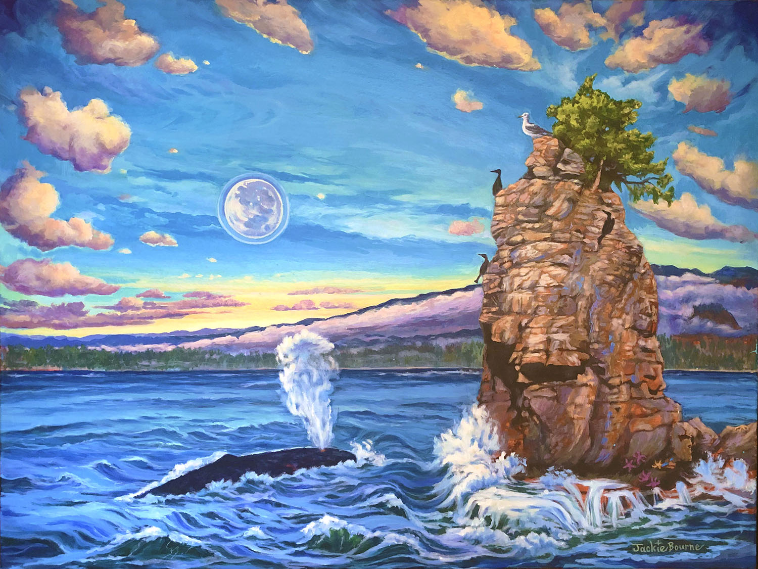 grey-whale-and-rock-in-ocean-painting-moon